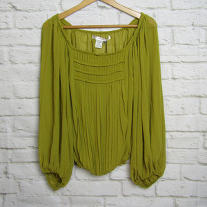 NWT Studio M  Polyester Long Sleeve Peasant Blouse